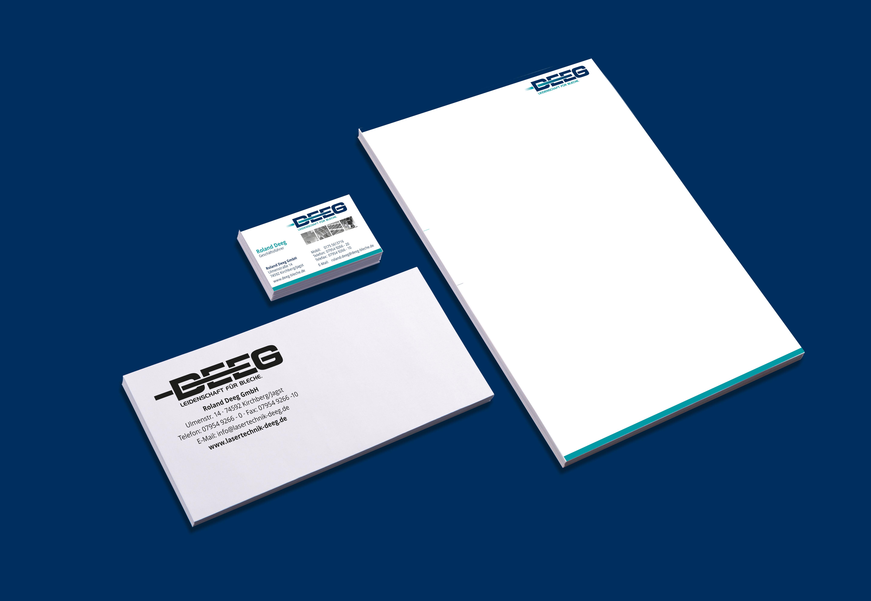 Block, Visitenkarten und Kuverts