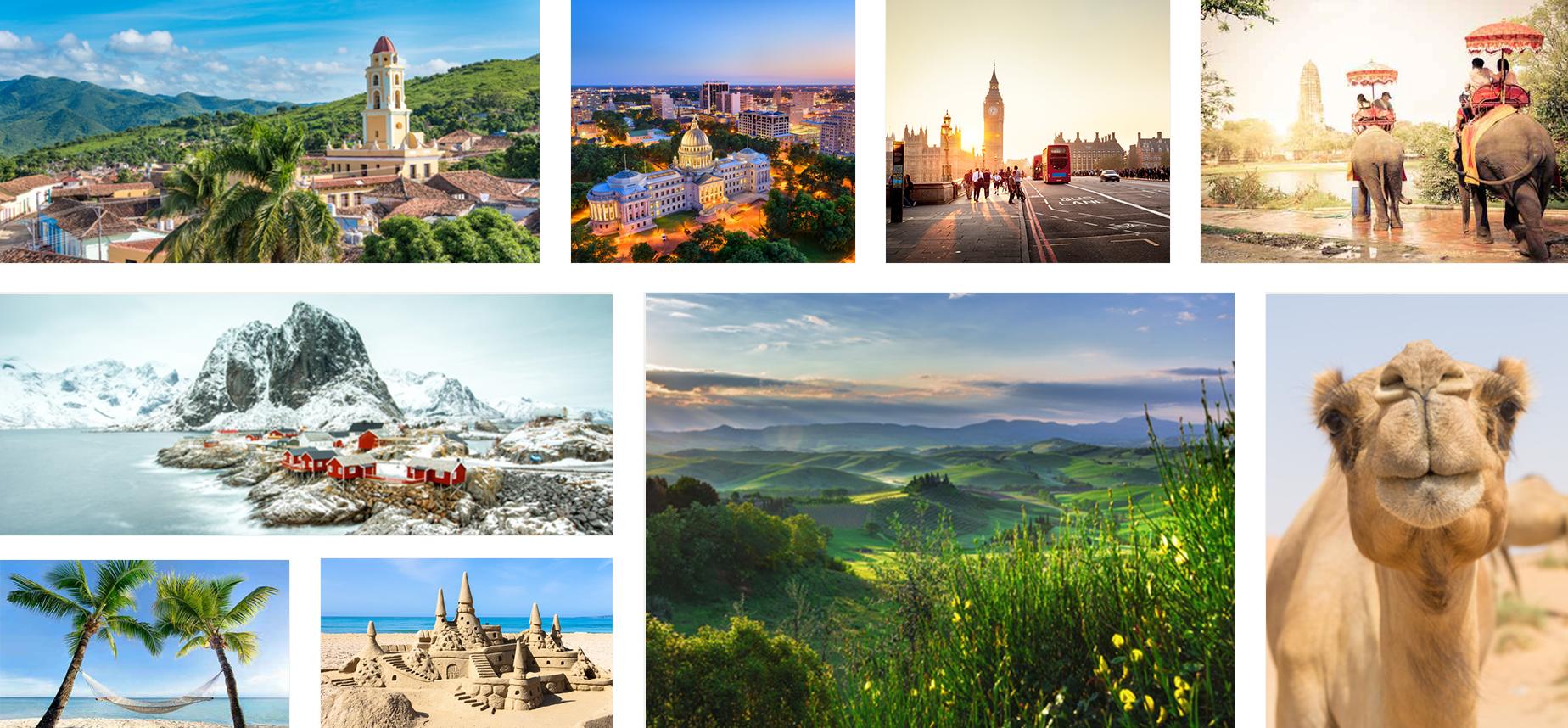 Collage aus Urlaubsbildern
