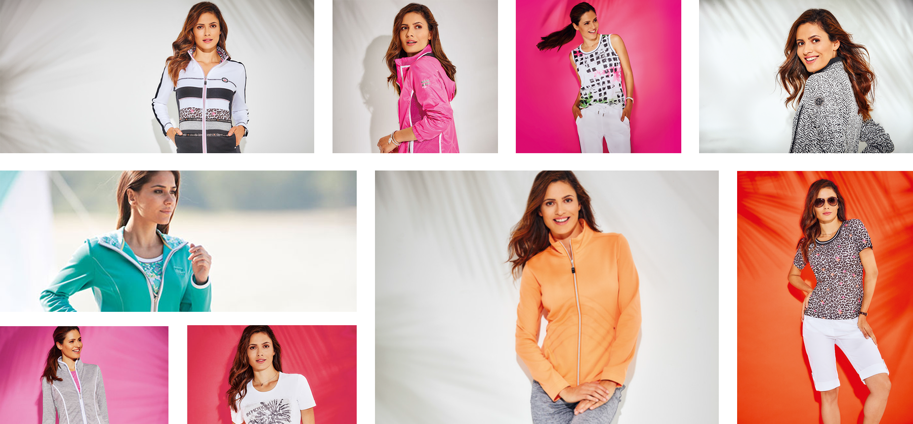 Collage aus Frauen mit Sportkleidung