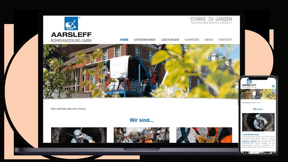 Aarsleff Webseite