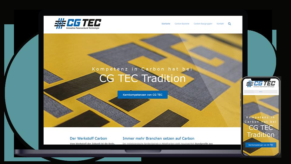 CG TEC Landingpage