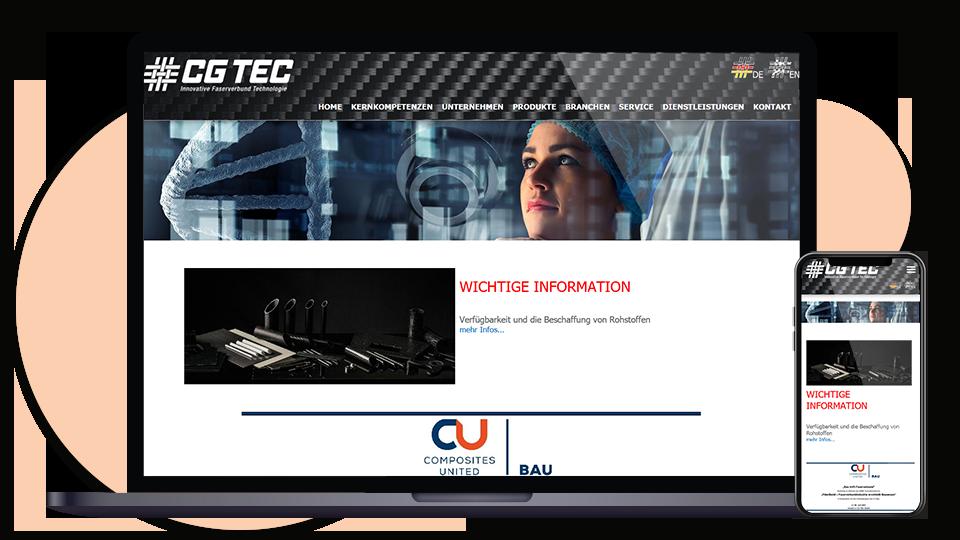 CG TEC Webseite