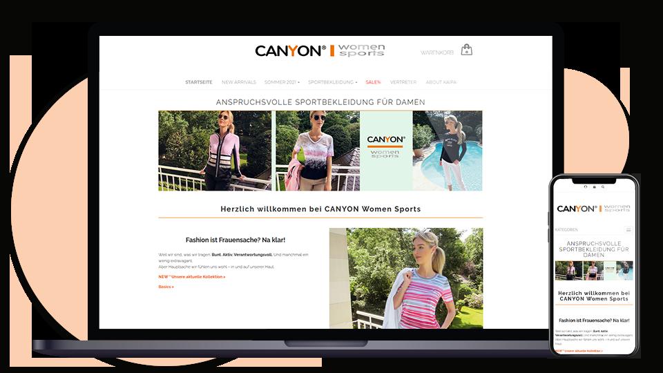 Canyon Women Sports Webseite