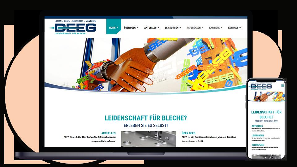 Deeg Webseite