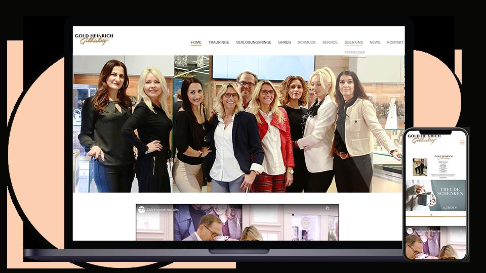 Gold Heinrich Webseite