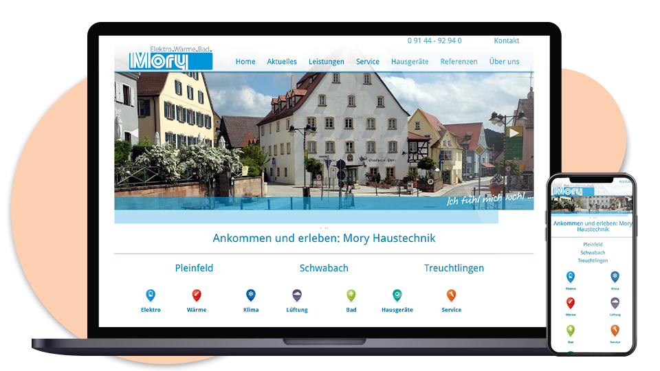 Mory Haustechnik Webseite