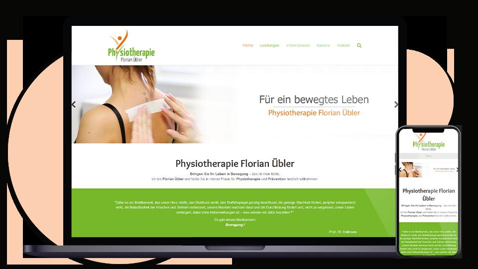 Physiotherapie Uebler Webseite