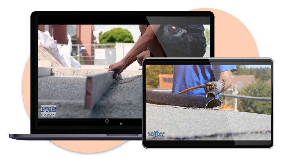 Bildschirme mit Video-Vorschau