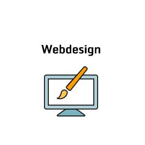 Icon mit Monitor und Pinsel